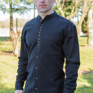 Grandfather shirt - Black