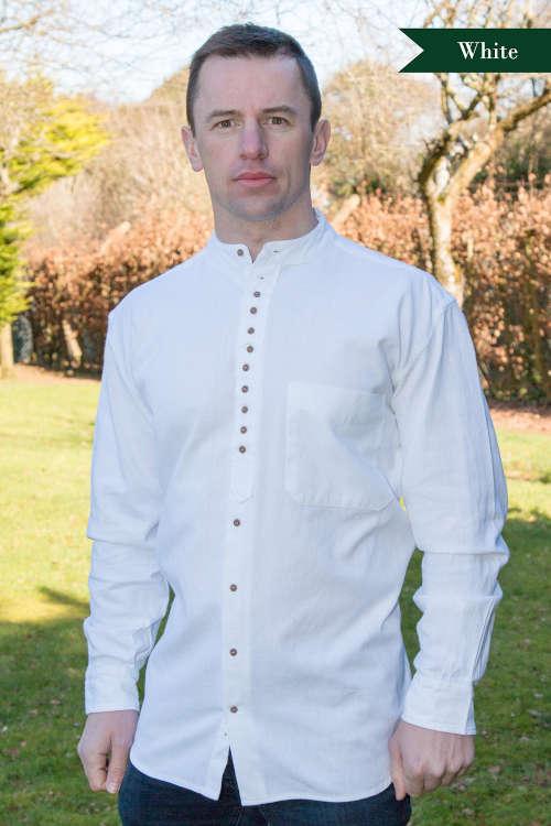 Grandfather shirt - White