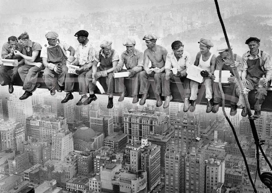 Men at work skyscraper